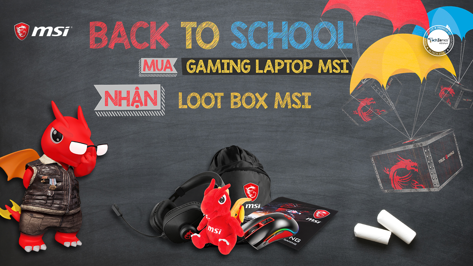 "MSI Back To School ""MUA LAPTOP - SĂN LOOT BOX"""