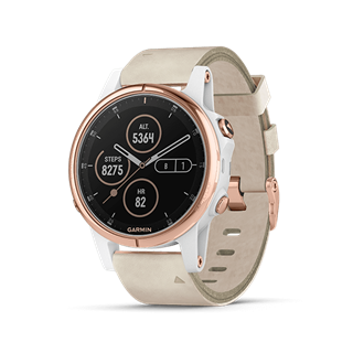 Garmin Fenix 5s Plus Sapphire rose gold with beige band