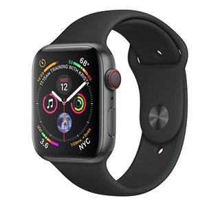 Apple Watch Series 4 Space Gray Aluminum Case with Black Sport Band (GPS + CELLULAR) - 40mm