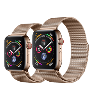 Apple Watch Series 4 Gold Stainless Steel Case with Gold Milanese Loop (GPS + Cellular)