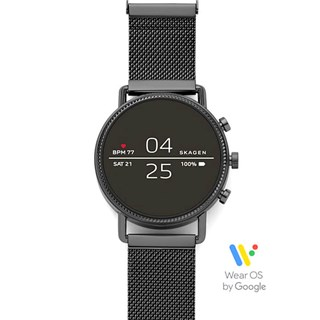 Skagen Falster 2 Black Magnetic Steel-Mesh