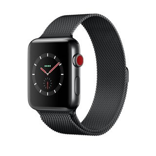 Apple Watch Series 3 Space Black Stainless Steel Case with Space Black Milanese Loop (GPS+CELLULAR)